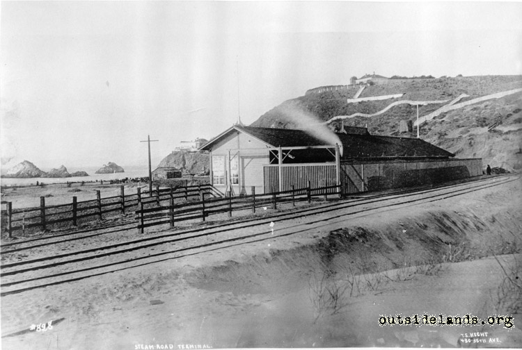 Terminus of the Park & Ocean Railroad on 49th Ave (La Playa)