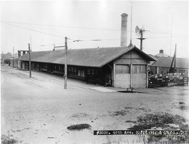 Terminal of the Park & Ocean Railroad, 49th & Balboa