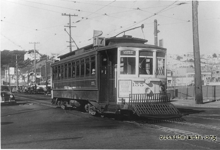 #7 MUNI streetcar at La Playa and Fulton Sts.