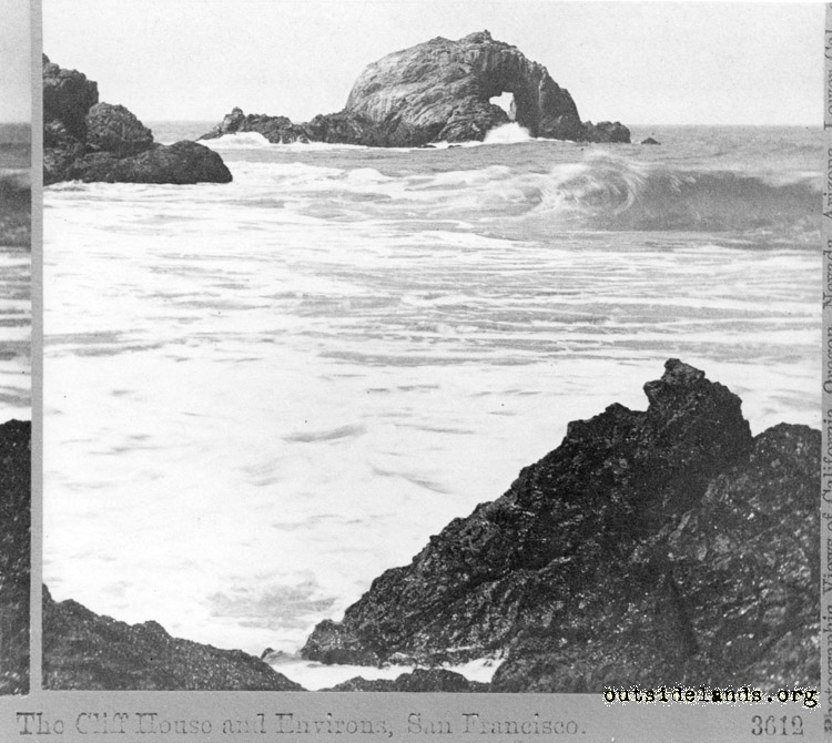Seal Rocks from Point Lobos. Arch Rock in center.