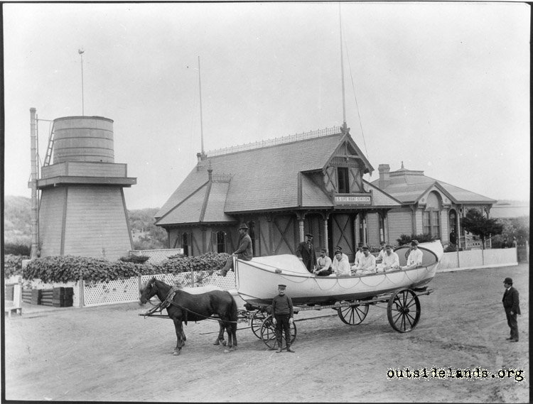 U.S. Life Boat Station, Golden Gate Park. Corner of Great Highway and Fulton St.