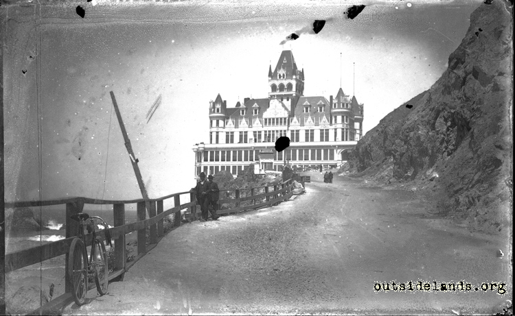 Second Cliff House. View looking northwest on Cliff Road