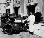Hall's Soda Fountain delivery, 1929