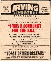 Irving Theatre Ad